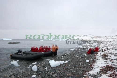 shore landings on Cuverville Island Antarctica