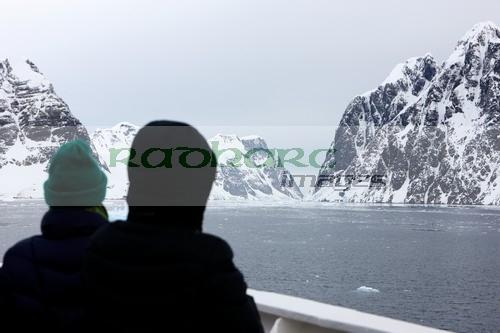 entering the Lemaire channel Antarctica