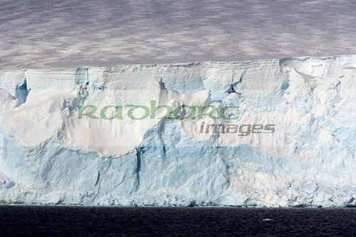 glacier face with blue and white ice arctowski peninsula Antarctica