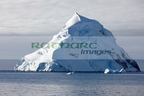 snow capped delaite island wilhelmina bay Antarctica