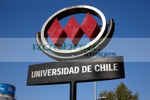 universidad de chile metro station downtown Santiago Chile