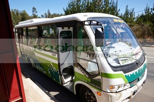 small local minibus bus service los pellines chile