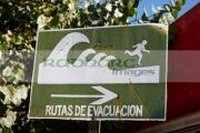 Tsunami-hazard-warning-zone-evacuation-route-sign-constitucion-Chile