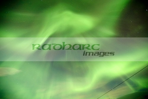 northern lights aurora borealis strong corona showing a face near tromso