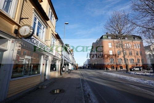 storgata Tromso main pedestrian shopping street troms Norway europe