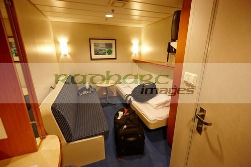 My cabin aboard Hurtigruten MV Midnatsol