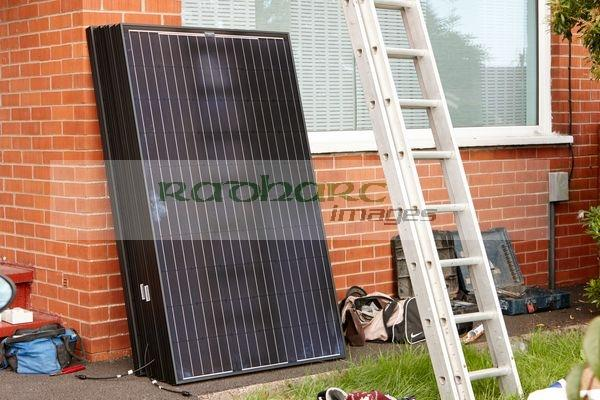 solar panel install photography Joe Fox northern ireland belfast photographer