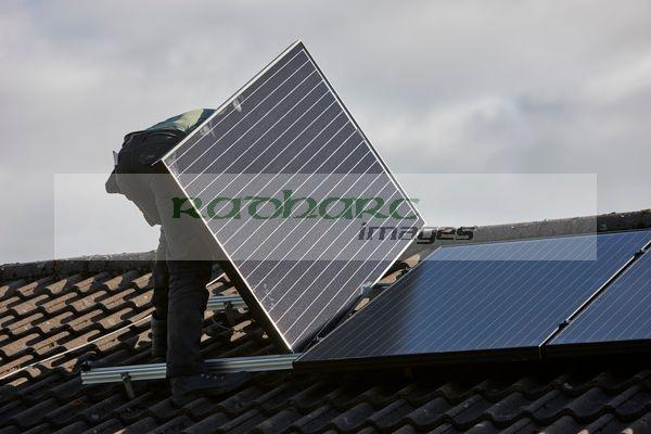 solar panel roof installation domestic home photography Joe Fox northern ireland belfast photographer