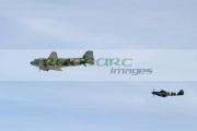 Dakota-spitfire-at-the-Newtownards-Air-Show,-County-Down,-Northern-Ireland.