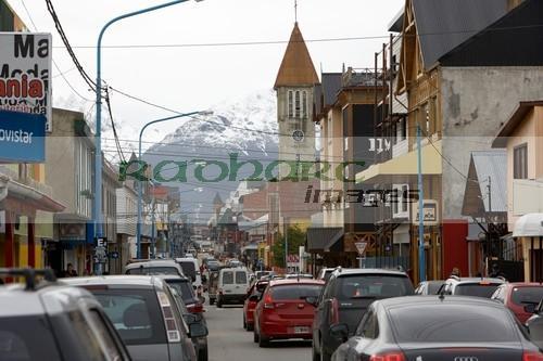 Avenue san martin shopping street Ushuaia Argentina