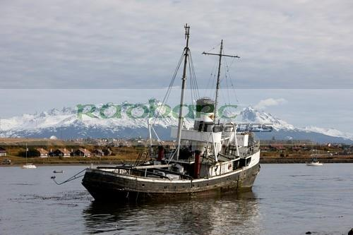 san cristobal saint christopher tugboat wreck in Ushuaia Argentina