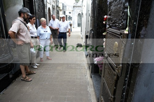 tourists at evita perons tomb