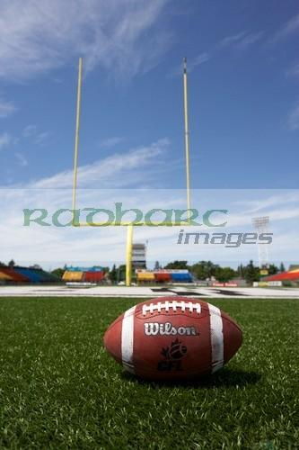 cfl ball and goal at taylor field