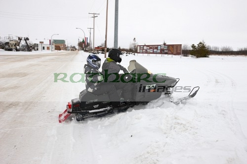Kamsack transport by snowmobile