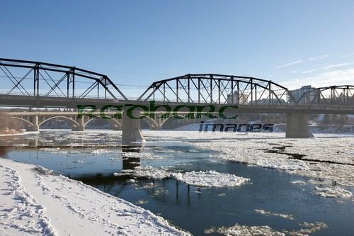 frozen saskatoon river saskatchewan