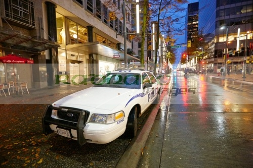 Vancouver police on the streets at night