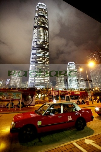 Hong Kong taxi and international finance centre