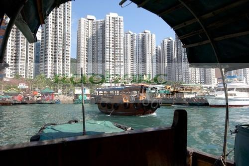 Sampan tour of Aberdeen harbour Hong Kong