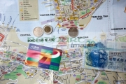 tourist-map-hong-kong-with-octopus-travel-card-hong-kong-dollars-cash