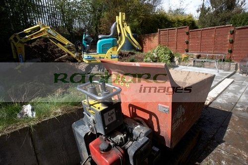 mini digger and excavator