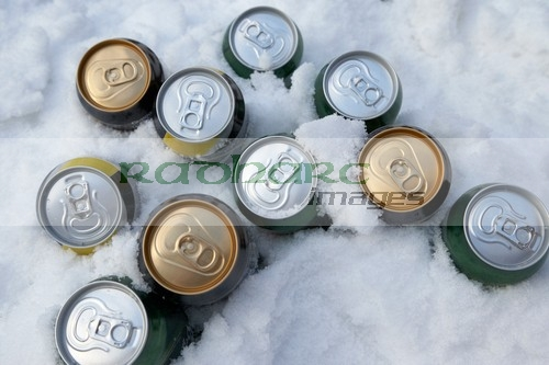 Beer Cans in the snow