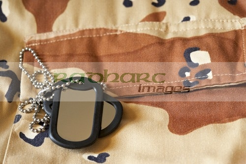 combat jacket dog tags