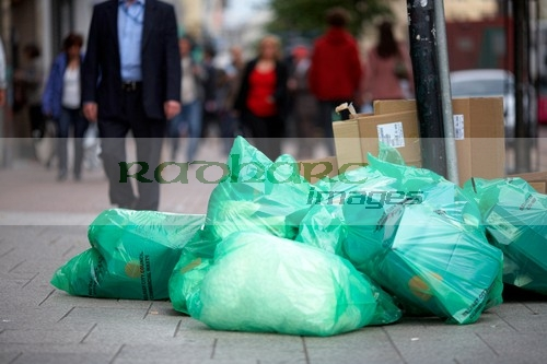 pile of rubbish in the streets