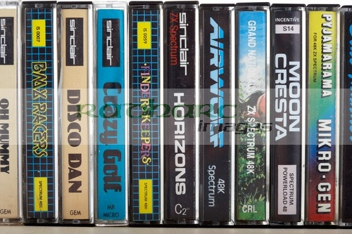 Video games - sinclair spectrum computer games on audio tapes