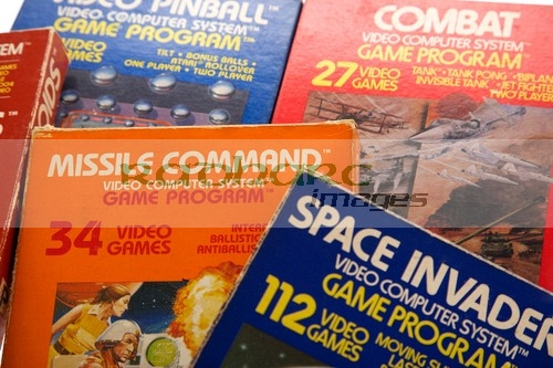Video games - Atari 2600 games console cartridges