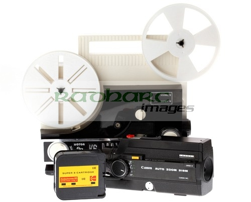 Home Cinema - super 8 8mm film projector movie camera film cartridge