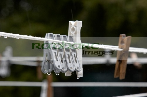 wet soaking washing line