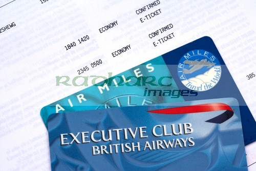 British Airways e-ticket airmiles