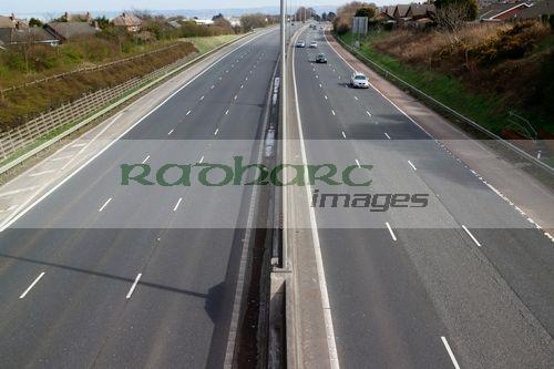 looking down on M2 motorway in county antrim northern ireland