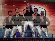 BELFAST,-UNITED-KINGDOM-_-MAY-25:-Keith-Duffy,-Mikey-Graham,-Ronan-Keating,-Stephen-Gately-Shane-Lynch-perform-with-Boyzone-at-the-Odyssey-Arena,-Belfast