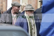 Pete-Postlethwaite-Richard-Attenborough-on-the-set-Closing-The-Ring,-Sir-Richard-Attenboroughs-latest-film