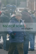 Sir-Richard-Attenborough-on-the-set-Closing-the-Ring,-Belfast,-Northern-Ireland.