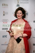 Kate-OToole-with-her-fathers-award-in-the-press-room-at-the-6th-Annual-Irish-Film-Television-Awards-at-the-Burlington-Hotel-on-February-14,-2009-in-Dublin,-Ireland
