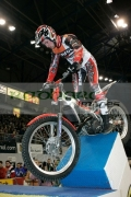 James-Dabill-from-Great-Britain-on-his-Beta-bike-in-action-at-the-Belfast-round-the-Indoor-Trial-World-Championship,-won-by-Adam-Raga-from-Spain.