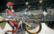 Takahisa-Fujinami-from-Japan-races-against-Albert-Cabestany-from-Spain-at-the-Belfast-round-the-Indoor-Trial-World-Championship,-won-by-Adam-Raga-from-Spain.