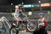 Jeroni-Fajardo-from-Spain-on-his-Gas-Gas-bike-in-action-at-the-Belfast-round-the-Indoor-Trial-World-Championship,-won-by-Adam-Raga-from-Spain.