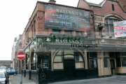 Magenniss-Bar-in-May-Street-in-Belfast,-scene-the-fight-which-ended-in-the-death-Robert-McCartney,-photo-taken-on-the-eve-his-first-anniversary.
