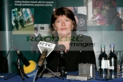 Paula-McCartney-at-the-PSNI-press-conference-requesting-further-information-about-the-murder-their-brother-Robert-McCartney-in-Belfast-one-year-ago.
