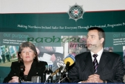 Paula-McCartney-at-the-PSNI-press-conference-with-detective-inspector-Philip-Marshall-requesting-further-information-about-the-murder-their-brother-Robert-McCartney-in-Belfast-one-year-ago.