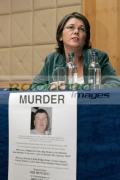 Catherine-McCartney-at-the-PSNI-press-conference-requesting-further-information-about-the-murder-their-brother-Robert-McCartney-in-Belfast-one-year-ago.