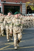 Royal-Irish-Regiment-soldiers-march-at-the-Royal-Irish-Regiment-RIR-Homecoming-Parade-in-Belfast-on-September-02,-2008-in-Belfast,-Northern-Ireland.-The-parade,-which-passed-relatively-peacefully,-was-for-troops-returning-from-Iraq-Afghanistan.