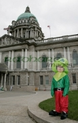 Joel-dressed-as-Leprechaun-outside-Belfast-City-Hall