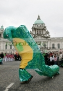 St-Patricks-Day-parade-in-front-Belfast-City-Hall