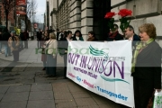 Pro-Anti-gay-protestors-outside-the-Gay-Wedding-Shannon-Sickels-Grainne-Close-under-the-UKs-new-civil-partnership-laws,-Belfast-City-Hall,-Belfast,-Northern-Ireland