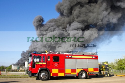 Fire Brigade service attend warehouse fire