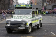 PSNI-Police-Service-Northern-Ireland-search-rescue-landrover-defender-vehicle-in-Belfast-City-Centre-during-parade